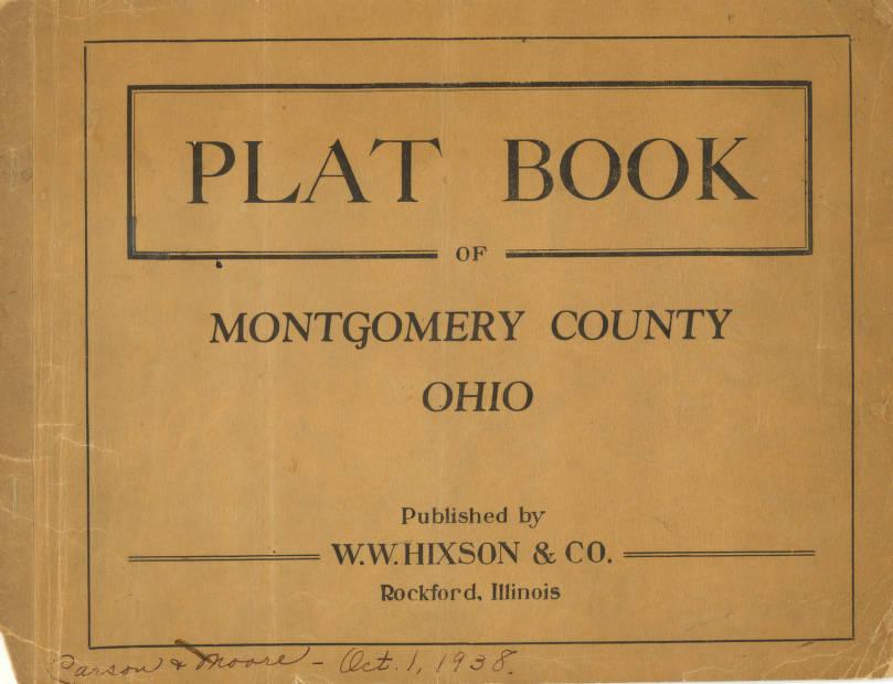 Miami Township Ohio Map.Plat Book Of Montgomery County Ohio Circa 1938 Map Collection
