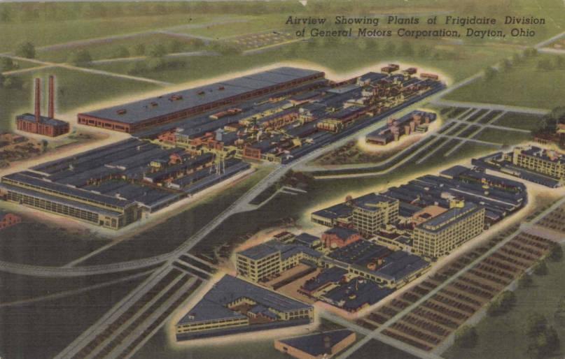 General Motors Corporation Frigidaire Division Dayton Postcard